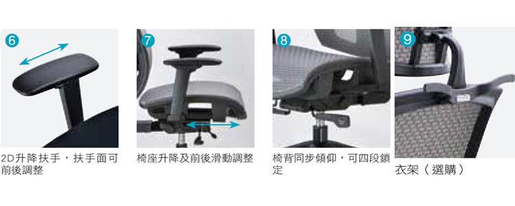 CM-1801人體工學電腦椅