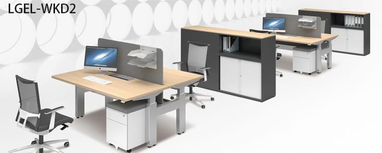 oa電動升降桌/OA電動桌/雙面對坐昇降桌