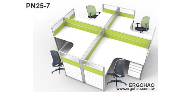 OA屏風桌4人桌