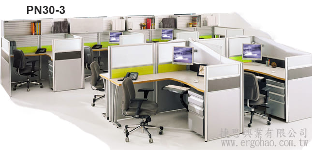 3CM屏風桌書架