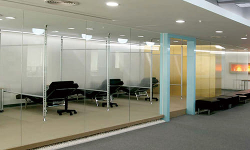 造型玻璃隔間/玻璃oa輕隔間