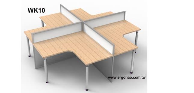 4人OA屏風工作站/尺寸可依空間而定
