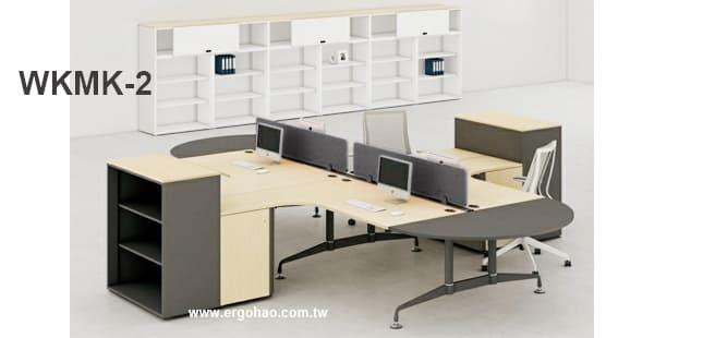 MK造型工作桌/L型桌含收納櫃