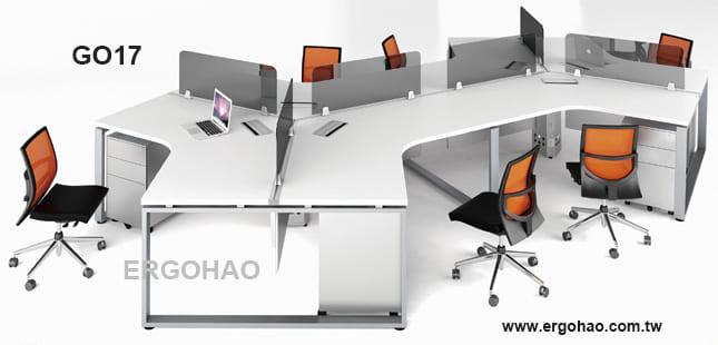 辦公桌/OTTO/120度造型桌/系統工作桌