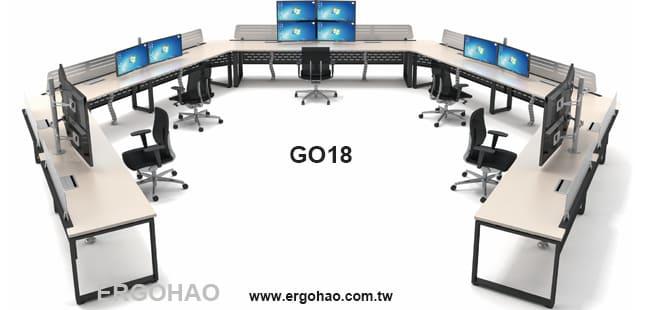 OA辦公桌/造型桌/系統工作桌/監控桌
